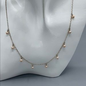 Jewelry - Sterling and pearl necklace.